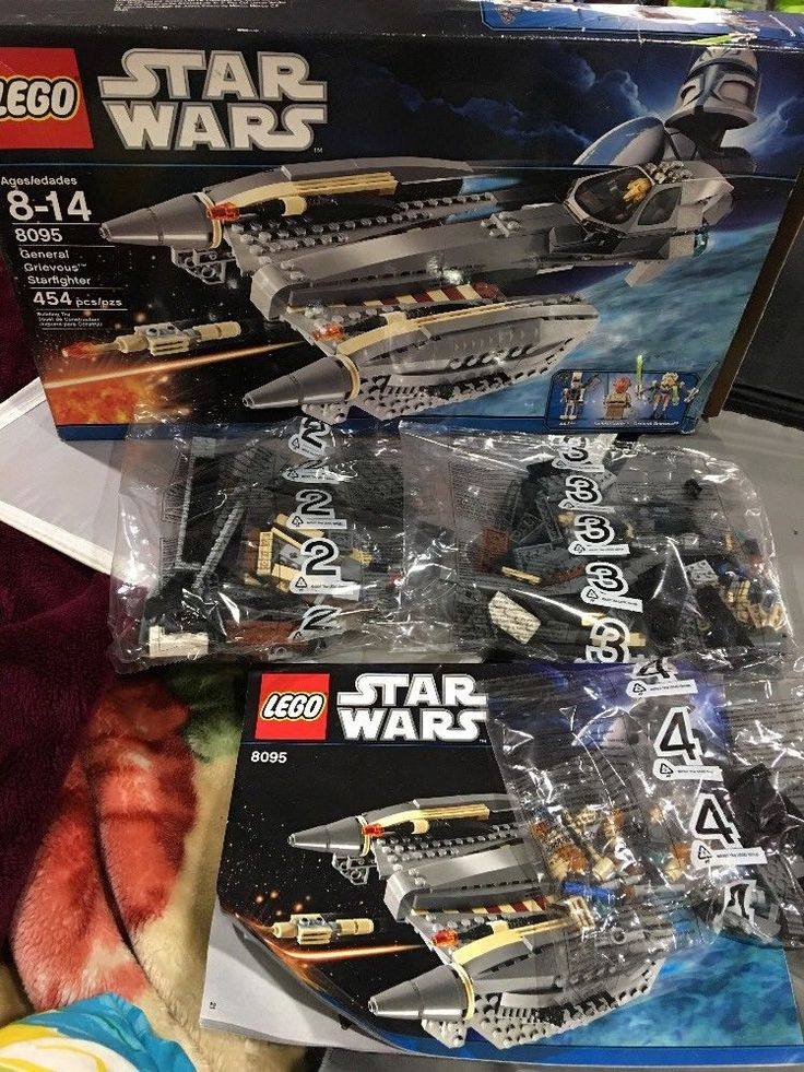 Lego Star Wars 8095 GENERAL GRIEVOUS STARFIGHTER Missing Figs, Sealed Bags