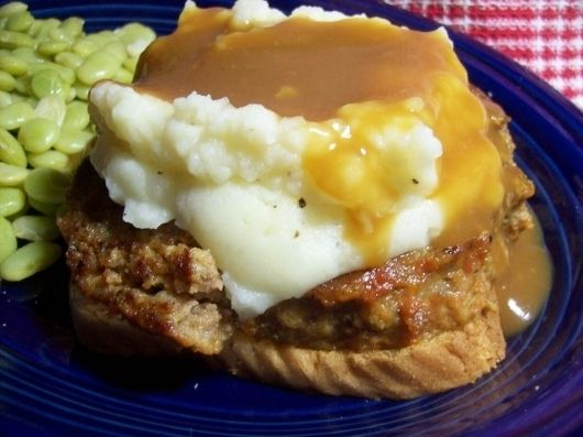Open Faced Meatloaf Sandwich