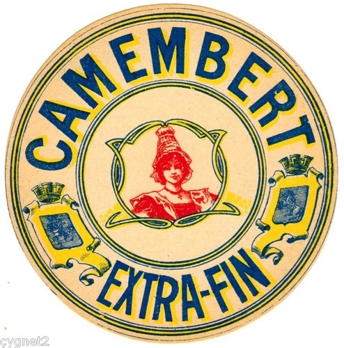 FRENCH CHEESE LABEL - ETIQUETTE - CAMEMBERT EXTRA-FIN