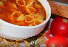 Пикантный томатный суп с макаронами — очень вкусно и оригинально!