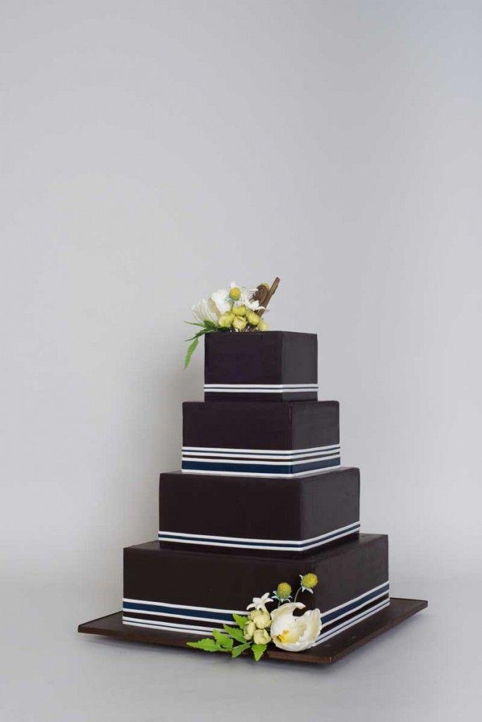 Rbi Wedding Cakes Gay Modern Square Dark Design