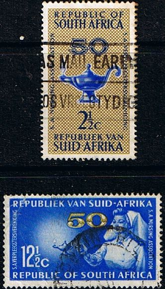 South Africa 1964 Nursing Association Set Fine Used SG 256 7 Scott 304 5 Condition Fine Used Only one post charge