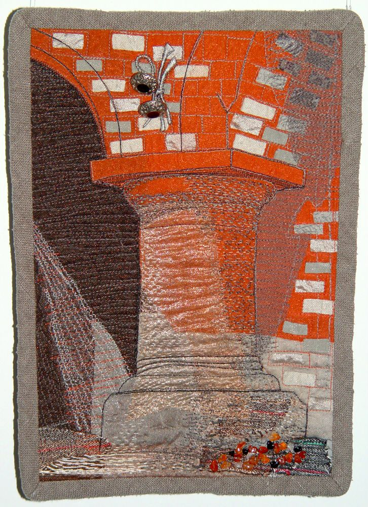 "Bozena Wojtaszek ""The Spool"", art quilt"