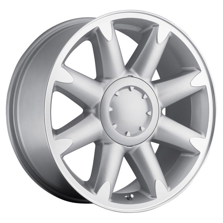 Gmc Yukon 2007-2012 20x8.5 6x5.5  13 - Denali Wheel - Silver Machine Face With Cap