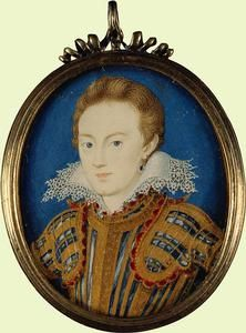 Henry, Prince of Wales, son of James I, grandson of Mary, Queen of Scots  studio of Isaac Oliver,miniature,circa 1610