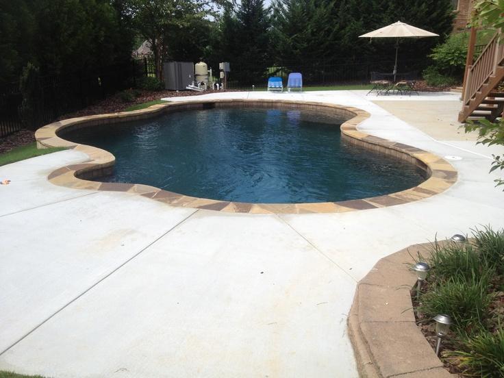 Another Black Marble Pebbletec Pool In Buford Ga Rcs Pool And Spa Gunite Pools Pinterest