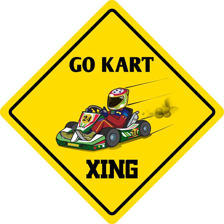 "Aluminum Go Kart Crossing Funny Metal Novelty Sign 12""X12"""