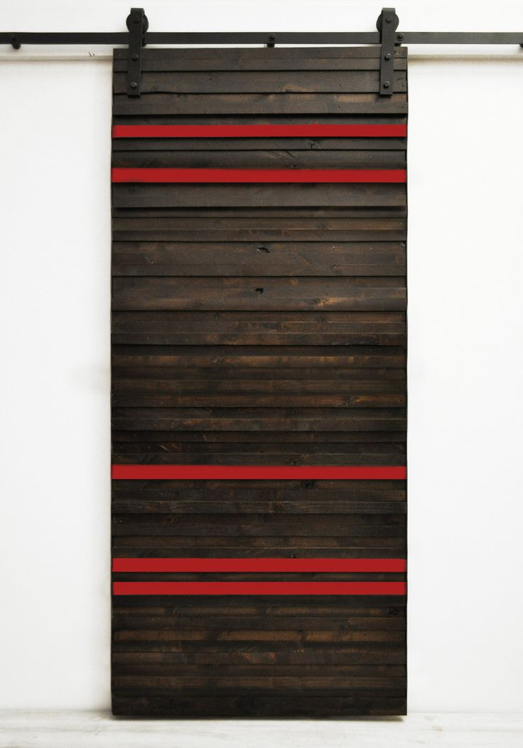 Barn Door Line Em Up - Dark Chocolate and Barn Red