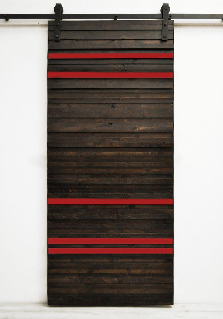 Barn Door Line Em Up - Dark Chocolate and Barn Red