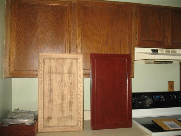 Restaining Cabinets Diy Kitchen Renovation Ly Finish Stain Project Tips Cabinet