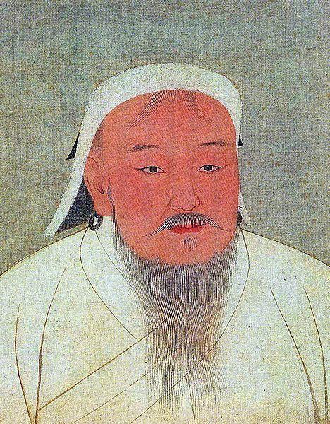 Genghis Khan as portrayed in a 14th-century Yuan era album.