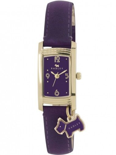 RADLEY Gold Plated Purple Strap Purple Oblong Dial Watch RY2204