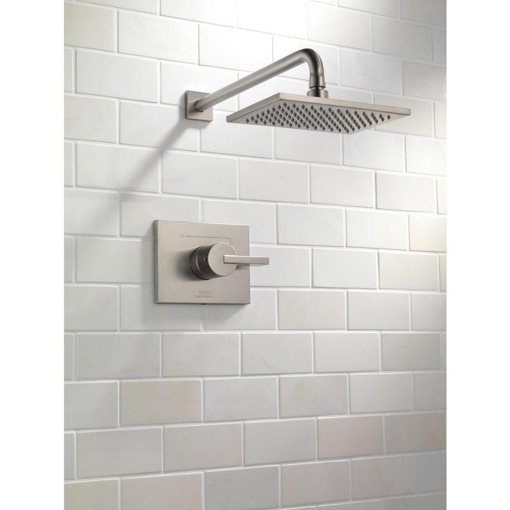 Shop Delta Vero Stainless 1 Handle Shower Faucet Trim Kit With Rain Showerhead At
