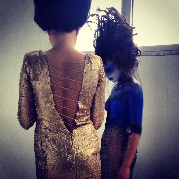 Back and backstage