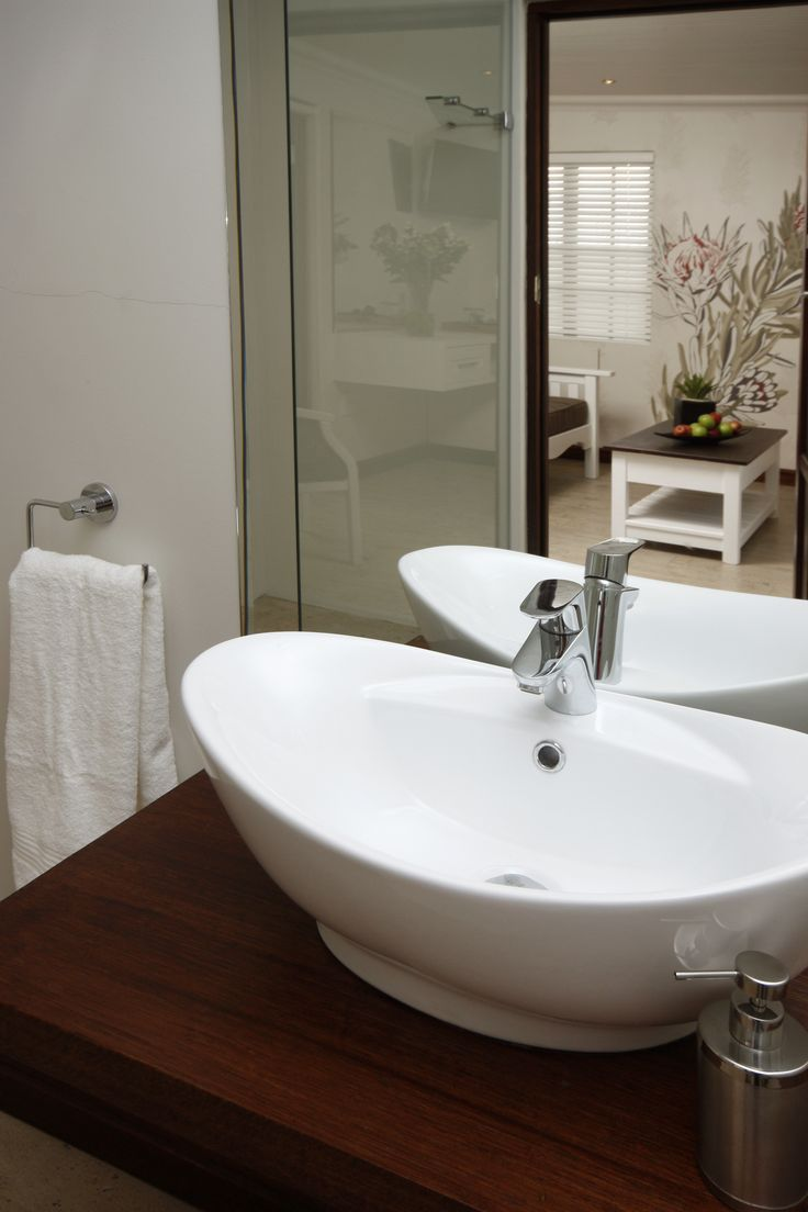Spacious bathrooms in the deluxe rooms