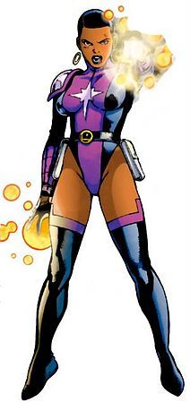 Kid Quantum/Jazmin Cullen, DC Comics - The 3rd Kid Quantum was James Cullen's sister, Jazmin. After her brother's death, she underwent surgery to augment her power to a level where she would not require the belt. Despite initial hostility to the Legion when she first joined, she eventually grew within the role to the point where she was elected leader of the team. Jazmin is a native of the planet Xanthu.