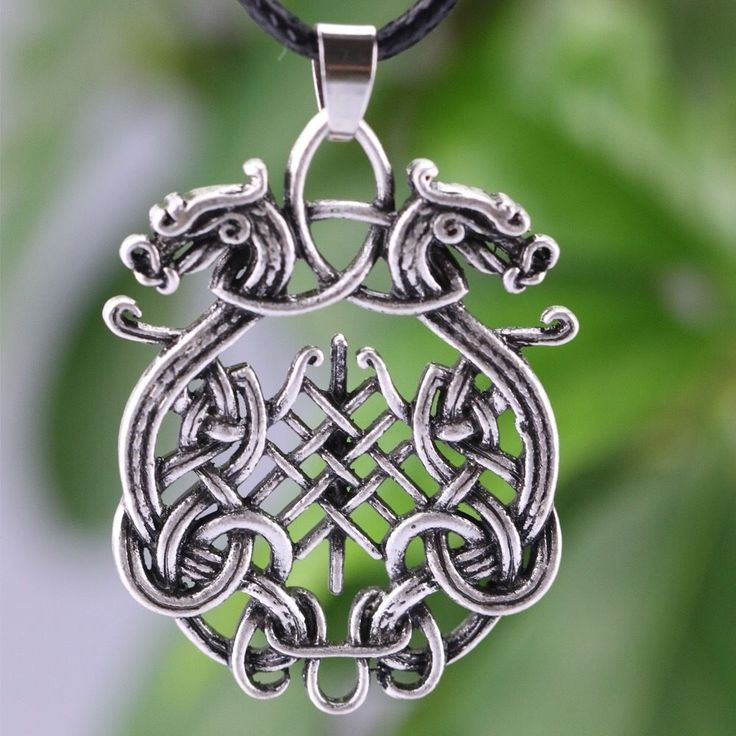 Norse Viking Double Dragon Pendant Necklace  | eBay