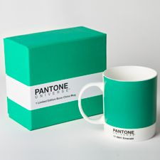 A non-committal way to experience the joy of Pantone's color of the year.    PANTONE 2013 Color of the Year Mug – Emerald