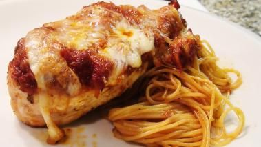 Chicken Parmesan should be a goto recipe for any home cook. It is simple to make, just about everyone I've ever met loves it, and of course it tastes great. It also adds another way to prepare the ubiquitous boneness skinless chicken breast, that when plainly cooked, and be just plain boring. In this recipe video, I show you how to sear off a couple chicken breasts, top them with my version of a ba