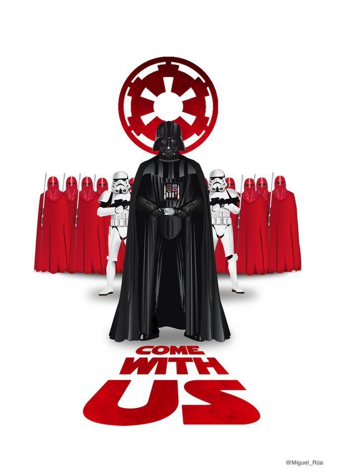 Extraordinarias ilustraciones de Star Wars por @Miguel Rua (via @Geek's Room - Hector Russo)