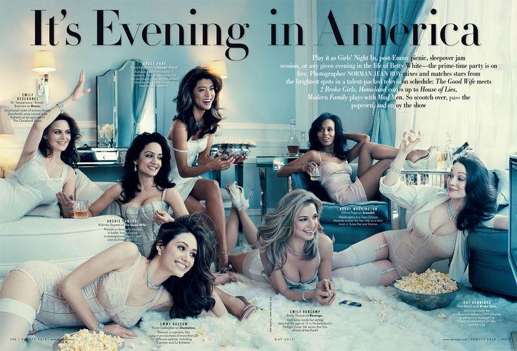 Ladies of the TV Issue: Kerry Washington, Sofía Vergara, Claire Danes, Julianna Margulies, and Michelle Dockery   Vanity Fair