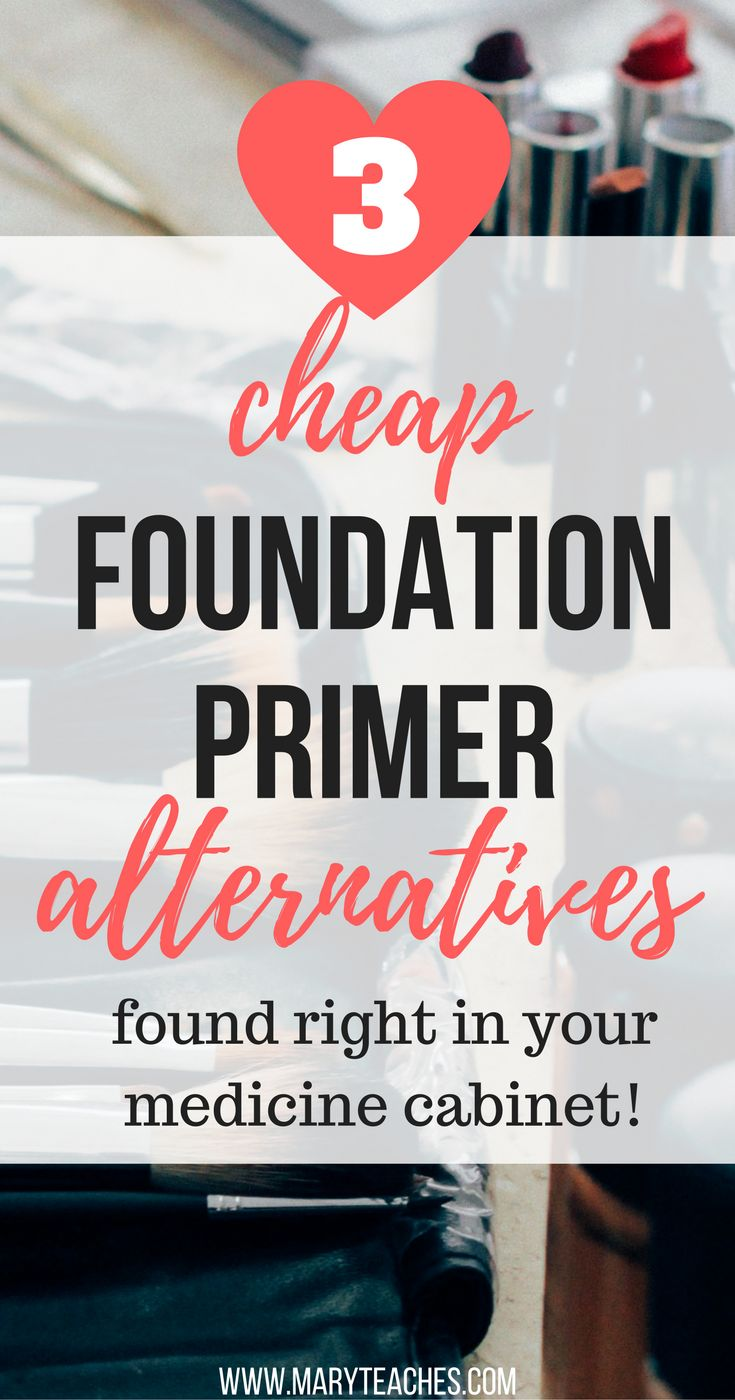 Looking for a cheap foundation primer DIY? Well, I have good news, you don't even have to DIY anything! There are some products you probably have laying around that you can use as a makeup primer substitute. Check out these cheap alternatives to primer to help your makeup last all day. Not on are they inexpensive and easy to apply, they work! Pin this and go to your medicine cabinets now! via @maryelleteaches