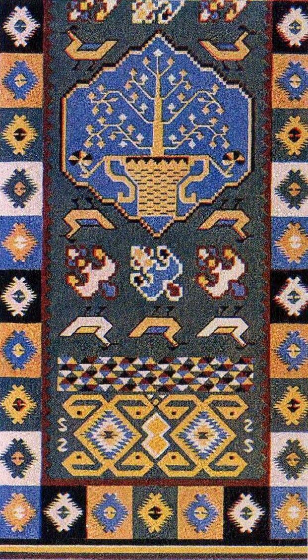 Traditional carpet design from Bukovina.