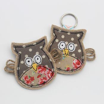 Owl Key Ring Or Brooch
