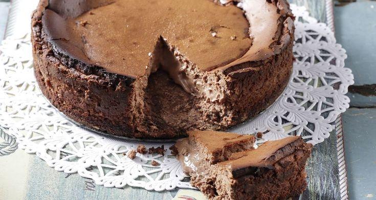 Cheesecake με σοκολάτα και καραμέλα