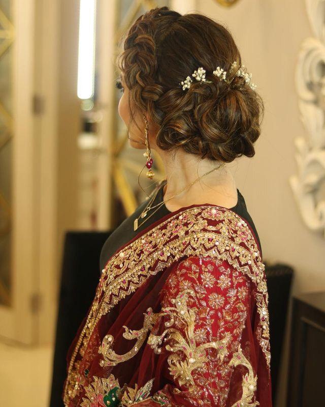 Aiman Khan Pakistani Hair Hair Styles Bridal Hair Buns