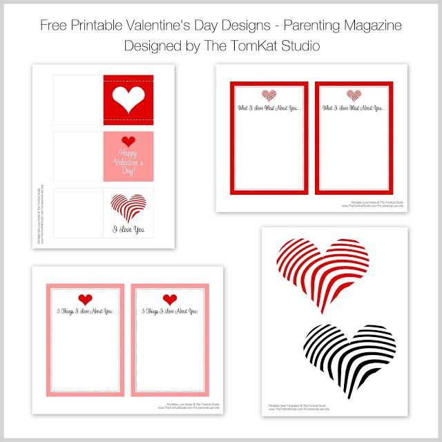 Free Printable Valentine Designs by The TomKat Studio for Parenting Magazine