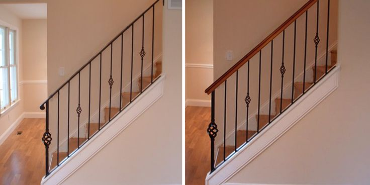 Best How To Add Wood Handrail To Iron Balustrade Add Wood To Iron Railing Wood Handrail Metal 400 x 300