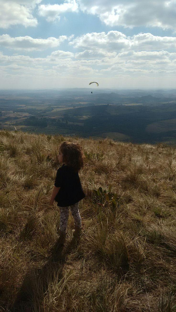 Aline foi ver o papai voar!!!