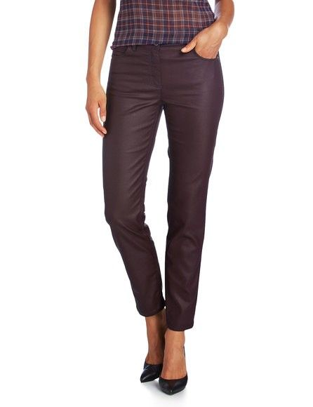 #Taifun Brooklyn #pantalon #broek lederlook bordeaux kortere lengte