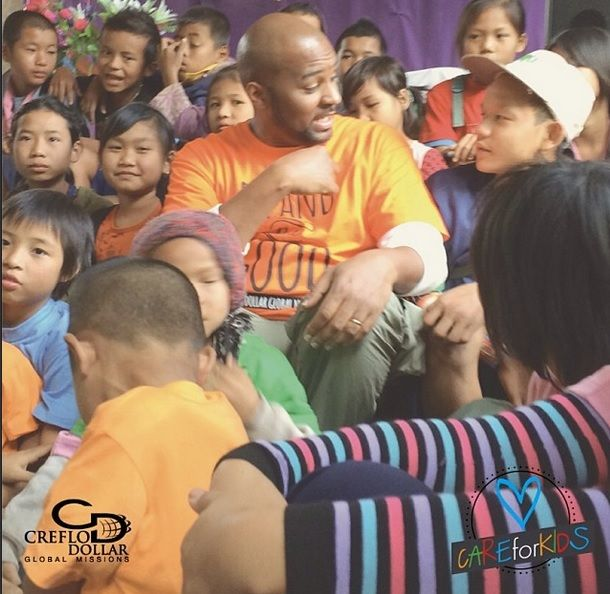 Creflo Dollar Global Missions  had the pleasure of spending time with children in #NohBo #Thailand and imparting into their lives. They also blessed us with their gratitude and sincere worship to God. #careforkids #heretohelp #lovingandchanginglives #worldchangers #expandingthegood #missionaries #futureandahope