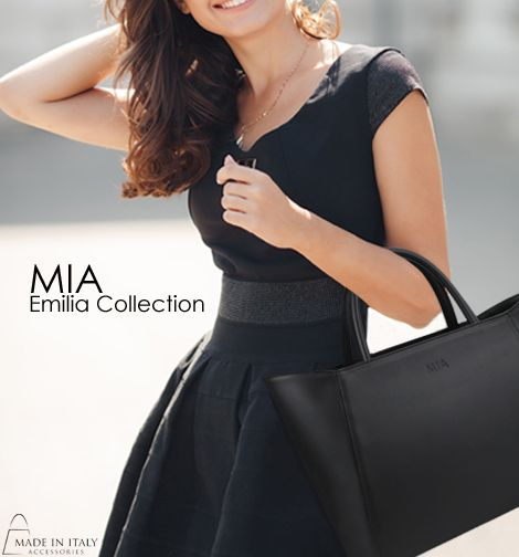 MIA | Emilia Collection | Luxe Black Leather handbags for Women | Made in Italy Accessories https://madeinitalyaccessories.com/emilia-leather-satchel-bag