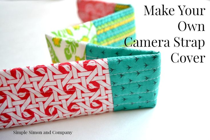 Camera Strap Cover tutorial. Easy sewing project idea.