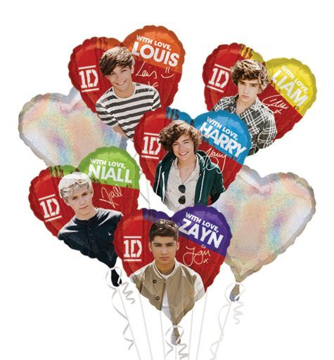 One Direction Balloon Bouquet 7pc - Party City