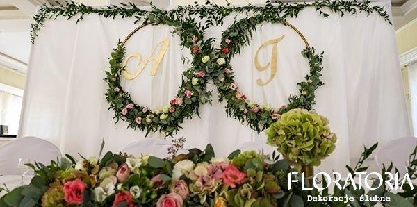 Wianki Scianka Para Mloda Dekoracjeslubne Floratoria Slub Slub Wesele Kwiaty Wedding Kwiaty Flowers Wreaths Decor Hoop Wreath