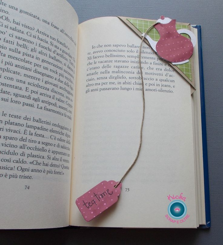 Kicka  oggi unisce due passioni in un segnalibro.   Ci sono due cose che amo fare insieme: leggere bevendo una tazza di the, sia d'estate c...