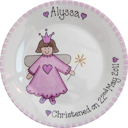 Personalised Christening Gift Plate - Fairy