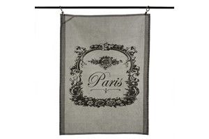 stonewashed cotton tea towel, Paris - Madison