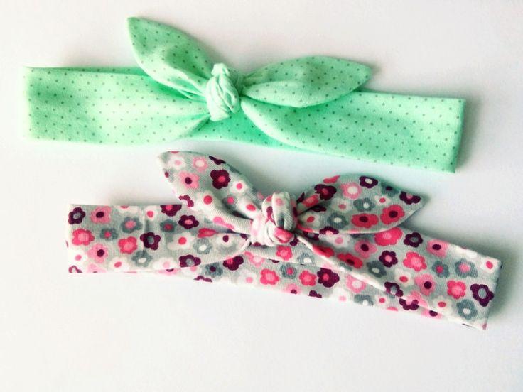 Dwie śliczne opaski pin up kropeczki kwiatki - MadebyKaza - Opaski dla niemowląt