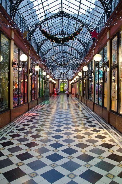 Passage des Princes, Paris. The ceiling lights are so beautiful.