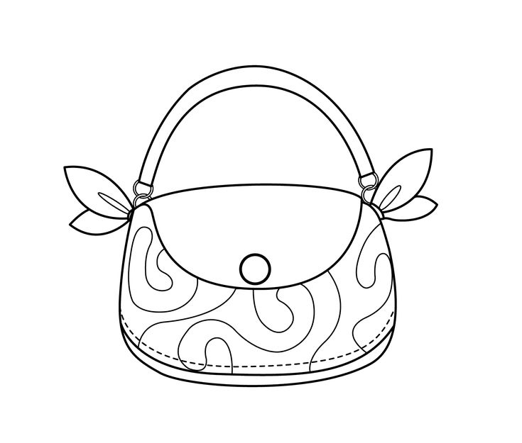 purses coloring pages - photo#29