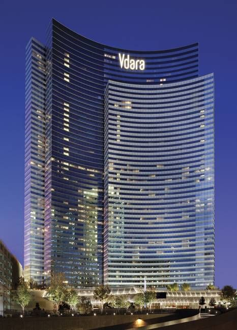 Vdara at CityCenter in Las Vegas. Loved staying there! We had a beautiful suite and the ambiance was awesome!