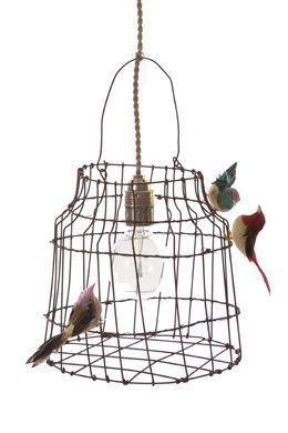62 best lampen images on pinterest garlands home ideas and lampshades lamp of bird cagen van dutch dlight size cage material lampshade iron wire cord length incl greentooth Gallery