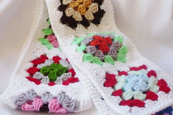 Granny Square Scarf by Aalexi on Etsy