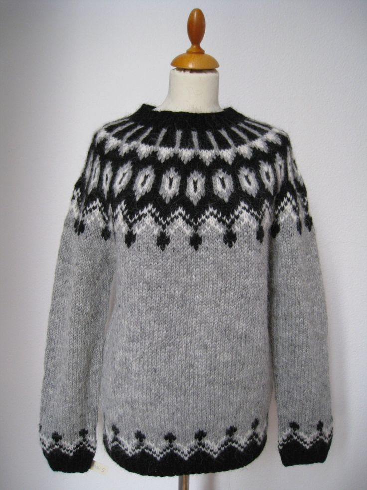 "Handmade Icelandic wool sweater or ""Lopapeysa"" as we call it, knitted in Iceland. by KnittingDidi on Etsy"