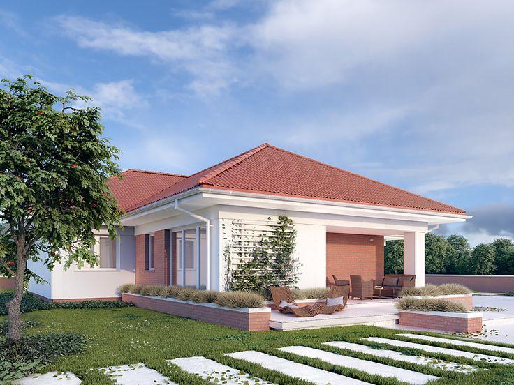 Projekt Aksamit 5 (133,39 m2). Pełna prezentacja projektu dotępna jest na stronie: https://www.domywstylu.pl/projekt-domu-aksamit_5.php #aksamit5 #domywstylu #mtmstyl #projekty #projektygotowe #dom #domy #projekt #budowadomu #budujemydom #design #newdesign #home #houses #architecture #architektura #moderndesign #domyparterowe